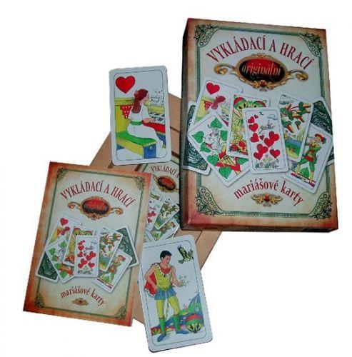 Jan Hrubý: Vykládací a hrací originální mariášové karty – dárkový komplet