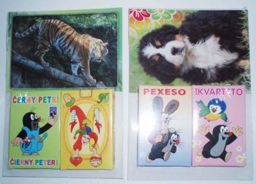 Paket kartové hry - různé motivy + pohlednice cena od 77 Kč