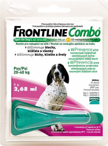 Frontline COMBO Spot on dog L 1x2,68 ml