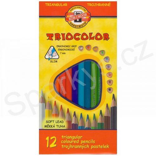 KOH-I-NOOR Trojhranné pastelky 3152/12 TRIOCOLOR