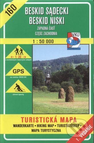 VKÚ Harmanec Beskid sadecki, Beskid Niski - turistická mapa č. 160 - Kolektív autorov cena od 95 Kč