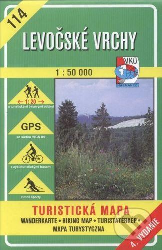 VKÚ Harmanec Levočské vrchy - turistická mapa č. 114 - Kolektív autorov cena od 78 Kč