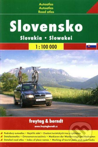 Turistický autoatlas Slovensko cena od 260 Kč