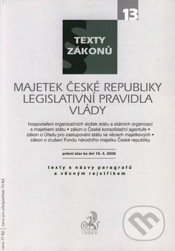 C. H. Beck Majetek České republiky, Legislativní pravidla vlády - cena od 67 Kč