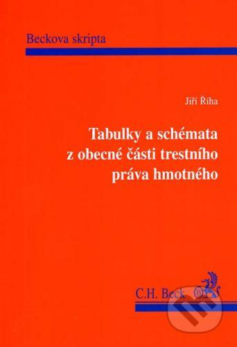 C. H. Beck Tabulky a schémata z obecné části trestního práva hmotného - Jiří Říha cena od 209 Kč