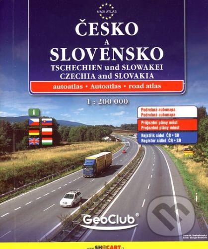 Česko a Slovensko - autoatlas 1:200 T cena od 223 Kč