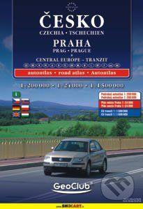 Česko,Praha,střední Evropa-atlas a4 cena od 160 Kč