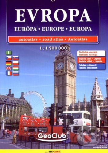 SHOCart Evropa/Európa/Europe/Europa 1:1 500 000 - cena od 157 Kč