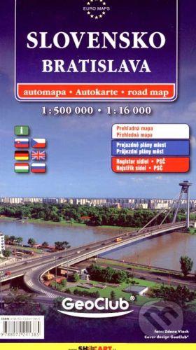 SHOCart Bratislava, Slovensko 1:16 000, 1:500 000 - cena od 95 Kč