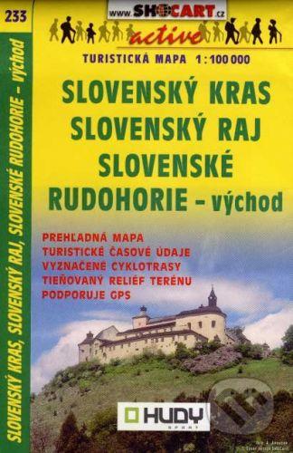 SHOCart Slovenský kras, Slovenský raj, Slovenské rudohorie - východ 1:100 000 - cena od 60 Kč