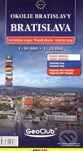 SHOCart Bratislava 1:20 000, okolie Bratislavy 1:50 000 - cena od 95 Kč