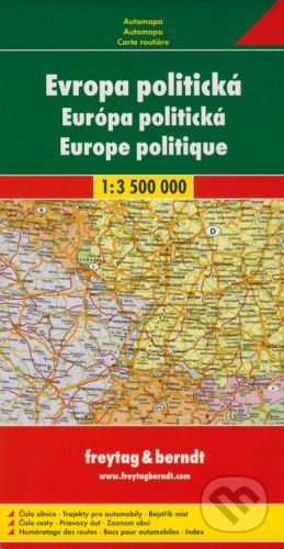 freytag&berndt Európa politická 1:3 500 000 - cena od 160 Kč