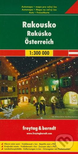 Automapa Rakousko 1:300 000 cena od 167 Kč