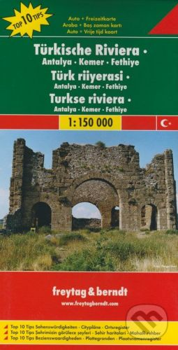 freytag&berndt Türkische Riviera 1:150 000 - cena od 188 Kč