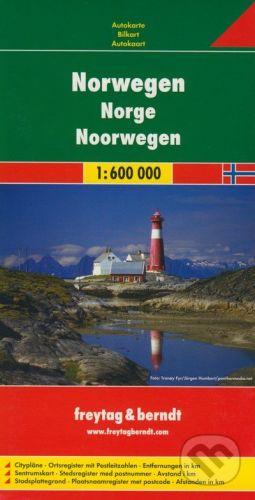 freytag&berndt Nórsko - Norwegen 1:600 000 - cena od 186 Kč