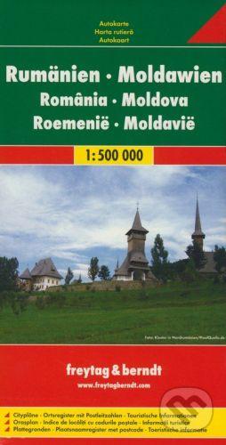freytag&berndt Rumänien - Moldawien 1:500 000 - cena od 190 Kč