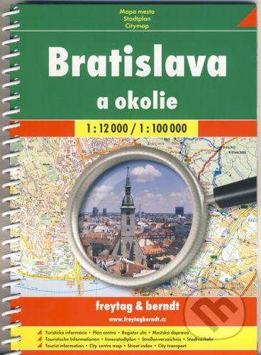 freytag&berndt Bratislava a okolie 1:12 000/1:100 000 - cena od 121 Kč