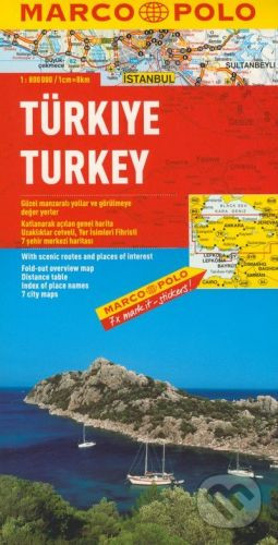 Turecko mapa marco polo cena od 140 Kč