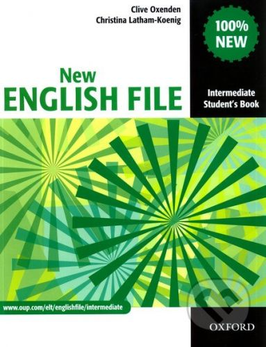 Clive Oxenden: New English File Intermediate Student´s Book cena od 411 Kč