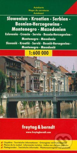 freytag&berndt Slowenien, Kroatien, Serbien, Bosnie-Herzegowina, Montenegro, Mazedonien 1:600 000 - cena od 190 Kč