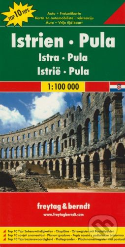 freytag&berndt Instrien - Pula 1:100 000 - cena od 190 Kč