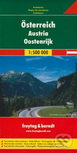 freytag&berndt Österreich 1:500 000 - cena od 190 Kč