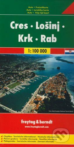 freytag&berndt Cres, Lošinj, Krk, Rab 1:100 000 - cena od 159 Kč