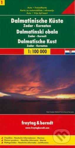 freytag&berndt Dalmatinische Küste 1:100 000 - cena od 190 Kč