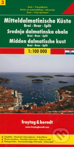 freytag&berndt Mitteldalmatinische Küste 1:100 000 - cena od 139 Kč