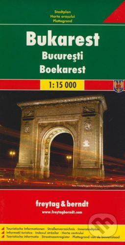 freytag&berndt Bukarest 1:15 000 - cena od 152 Kč