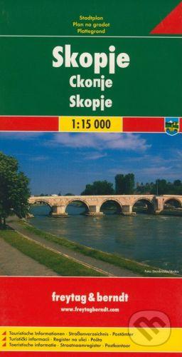 freytag&berndt Skopje 1:15 000 - cena od 155 Kč