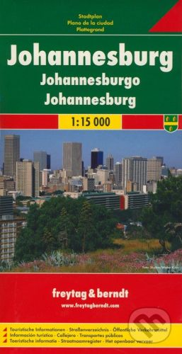 freytag&berndt Johannesburg 1:15 000 - cena od 155 Kč