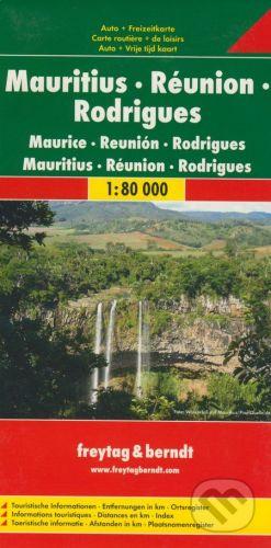 freytag&berndt Mauritisu, Réunion, Rodrigues 1:80 000 - cena od 205 Kč