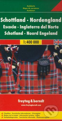 freytag&berndt Škótsko, Severné Anglicko 1:400 000 - cena od 190 Kč
