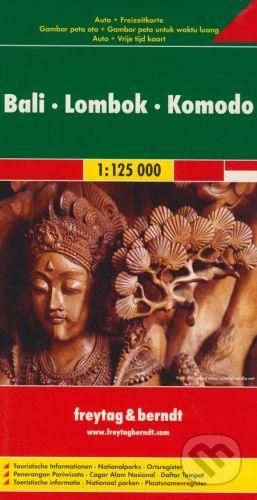 freytag&berndt Bali, Lombok, Komodo 1:125 000 - cena od 190 Kč