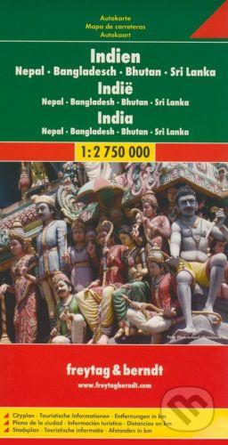 freytag&berndt India 1:2 750 000 - cena od 190 Kč