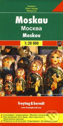 freytag&berndt Moskau/Moskou/Moscow/Moscou/Mosca (Moskva) 1:20 000 - cena od 120 Kč