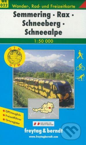 freytag&berndt Semmering, Rax, Schneeberg, Schneealpe 1:50 000 - cena od 181 Kč