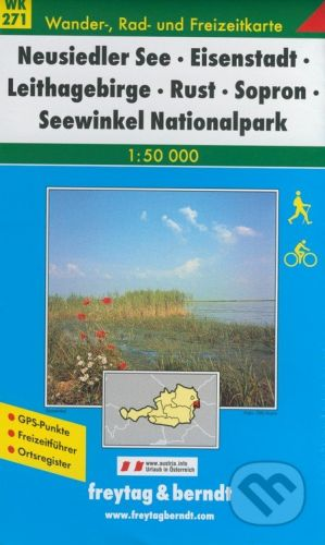 freytag&berndt Neusiedler See, Eisenstadt, Leithagebirge, Rust, Sopron, Seewinkel Nationalpark 1:50 000 - cena od 181 Kč