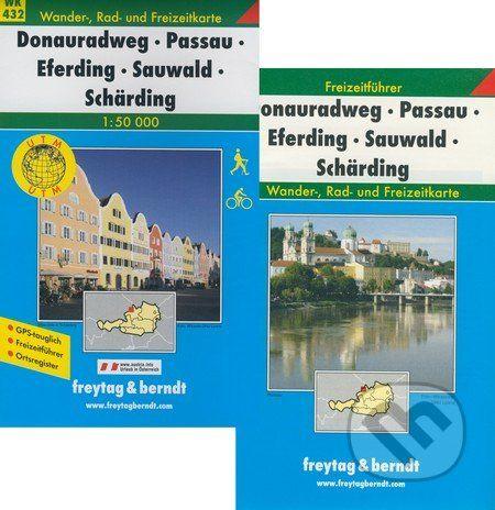 freytag&berndt Donauradweg, Passau, Eferding, Sauwald, Schärding 1:50 000 - cena od 181 Kč