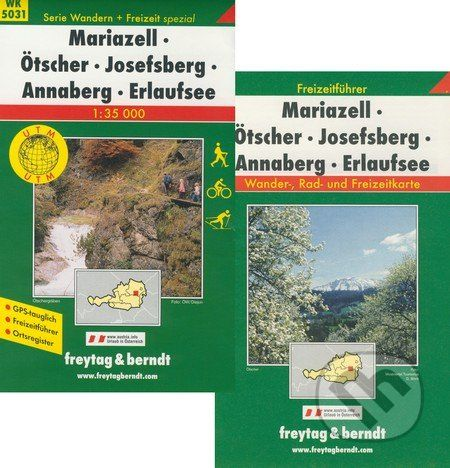 freytag&berndt Mariazell, Örscher, Josefsberg, Annaberg, Erlaufsee 1:35 000 - cena od 181 Kč