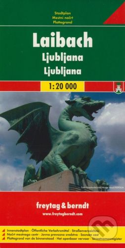 freytag&berndt Ljubljana 1:20 000 - cena od 155 Kč