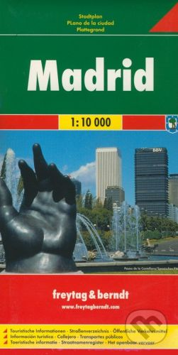 freytag&berndt Madrid 1:10 000 - cena od 119 Kč