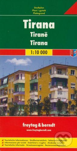 freytag&berndt Tirana 1:10 000 - cena od 146 Kč