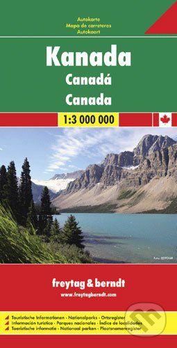 freytag&berndt Kanada 1:3 000 000 - cena od 180 Kč