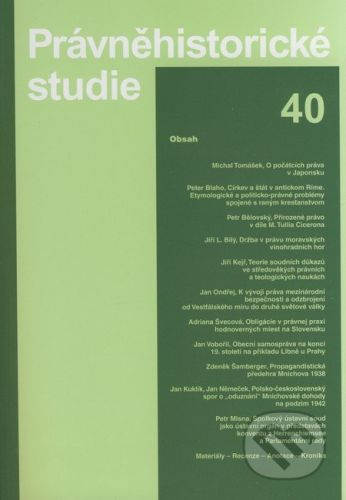 Karolinum Právněhistorické studie 40 - cena od 564 Kč