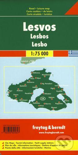 freytag&berndt Lesbos 1:75 000 - cena od 152 Kč