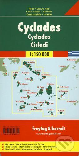 freytag&berndt Cyclades 1:150 000 - cena od 181 Kč