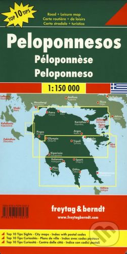 freytag&berndt Peloponnesos 1:150 000 - cena od 190 Kč