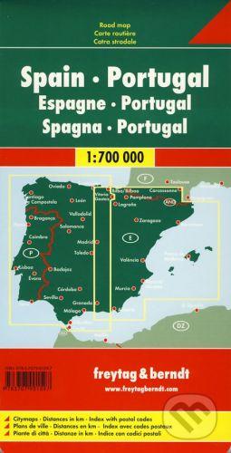 Kolektiv: Spanien, Portugal 1:700 000 cena od 147 Kč